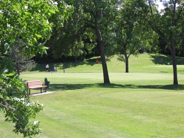 Enjoy the weekend with some friends at our backyard golf course!